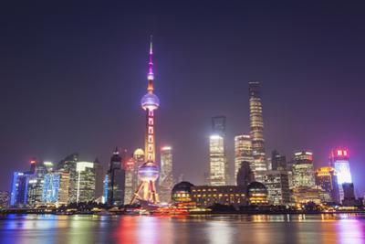 China, Shanghai, The Bund, Pudong Skyline across the Huangpu River by Steve Vidler