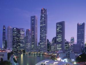 City Skyline, Financial District, Clarke Quay and Singapore River, Singapore by Steve Vidler