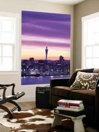 City Skyline / Night View, Auckland, North Island, New Zealand by Steve Vidler