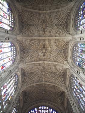 England, Cambridgeshire, Cambridge, King's College Chapel, Ceiling by Steve Vidler