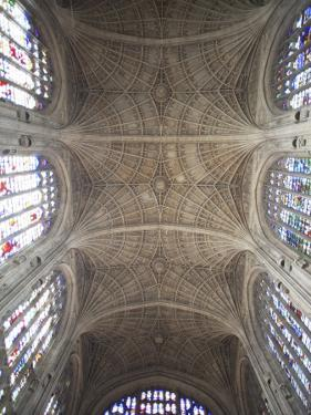 England, Cambridgeshire, Cambridge, King's College Chapel, Ceiling by Steve Vidler