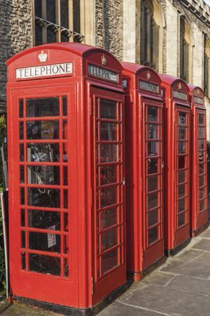 England, Cambridgeshire, Cambridge, Traditional Red Telephone Boxes by Steve Vidler