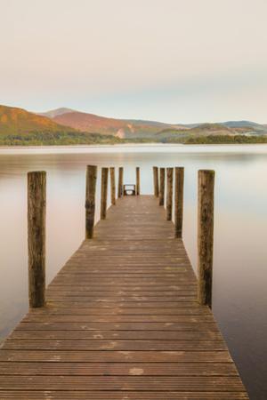 England, Cumbria, Lake District, Derwentwater, Wooden Jetty by Steve Vidler