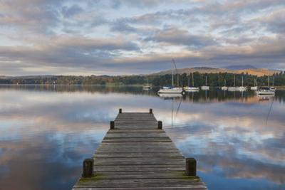 England, Cumbria, Lake District, Windermere, Wooden Jetty by Steve Vidler