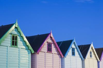 England, Essex, Mersea Island, Beach Huts by Steve Vidler