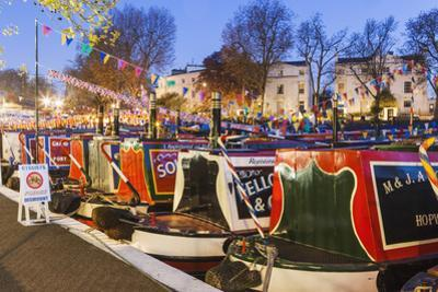 England, London, Little Venice, Canal Boats at Annual Canalway Cavalcade by Steve Vidler