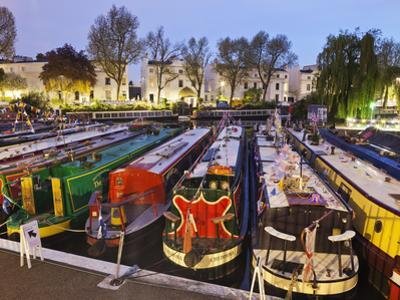 England, London, Little Venice, Canal Boats by Steve Vidler