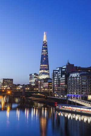 England, London, Southwark, The Shard and Thames River by Steve Vidler