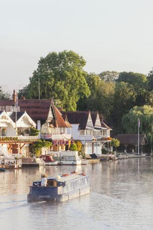 England, Oxfordshire, Henley-on-Thames, Boathouses and  River Thames by Steve Vidler