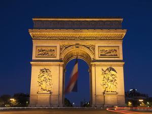 France, Paris, Arc De Triomphe by Steve Vidler
