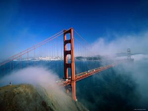Golden Gate Bridge with Mist and Fog, San Francisco, California, USA by Steve Vidler