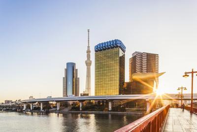 Japan, Honshu, Tokyo, Asakusa, Sumida River and Tokyo Sky Tree by Steve Vidler