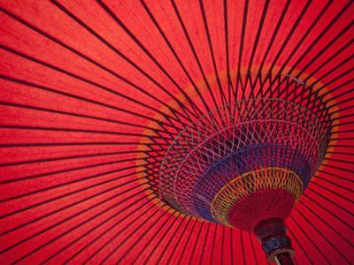Japan, Kyoto, Higashiyama, Japanese Red Umbrella by Steve Vidler