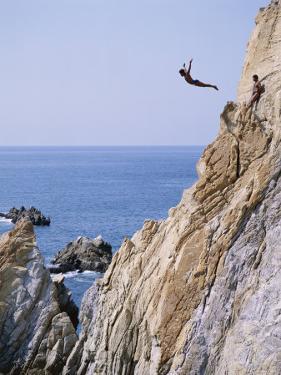 La Quebrada, Cliff Diver, Acapulco, Mexico by Steve Vidler