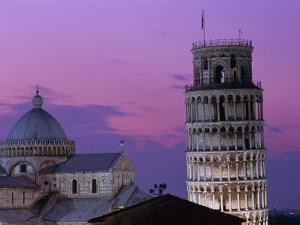 Leaning Tower (Torre Pendente) and Duomo / Night View, Pisa, Tuscany (Toscana), Italy by Steve Vidler