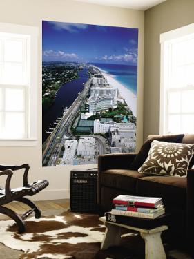 Miami Beach Skyline, Aerial, Miami, Florida, USA by Steve Vidler