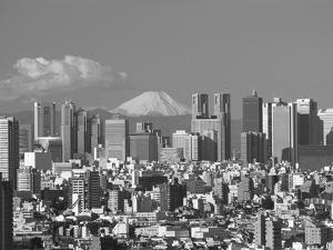 Mt.Fuji and Tokyo Shinjuku Area Skyline, Tokyo, Japan by Steve Vidler
