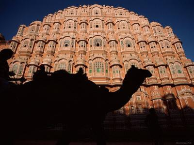 Palace of the Winds, Camel in Silouhette, Jaipur, Rajasthan, India by Steve Vidler