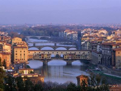 Ponte Vecchio and Arno River, Florence, Tuscany, Italy