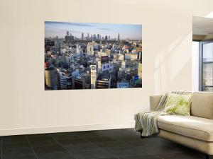 Shibuya Area Skyline with Shinjuku in the Background, Japan, Tokyo by Steve Vidler