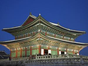 South Korea, Seoul, Gyeongbokgung Palace, Geunjeongjeon Throne Hall by Steve Vidler