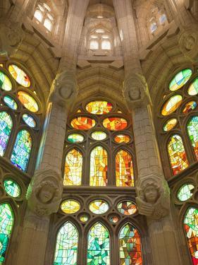 Spain, Barcelona, Sagrada Familia, Stained Glass Windows by Steve Vidler