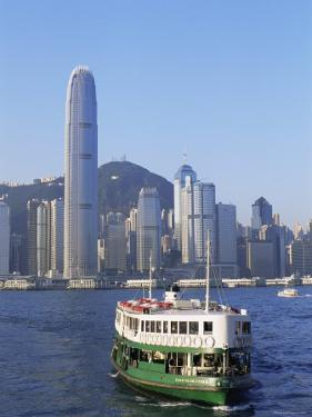 Star Ferry and City Skyline, Hong Kong, China by Steve Vidler