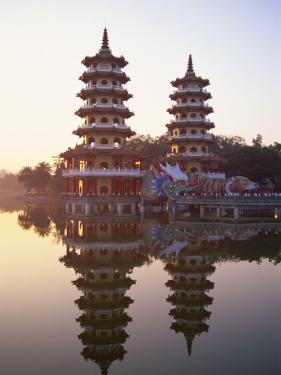Taiwan, Kaohsiung, Lotus Lake, Dragon and Tiger Pagodas by Steve Vidler