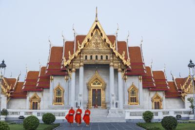 Thailand, Bangkok, Wat Benchamabophit aka The Marble Temple by Steve Vidler