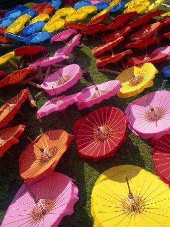 Thailand, Chiang Mai, Borsang Umbrella Village, Umbrellas by Steve Vidler