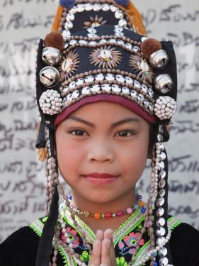 Thailand, Chiang Mai, Chiang Mai Flower Festival, Akha Hilltribe Girl by Steve Vidler