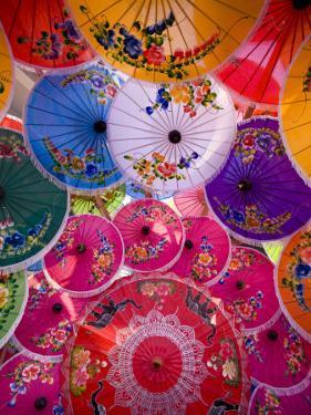 Thailand, Chiang Mai, Umbrella Display at Borsang Village by Steve Vidler