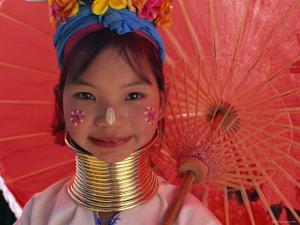 Thailand, Chiang Rai, Long Neck Karen Hilltribe, Long Neck Girl by Steve Vidler
