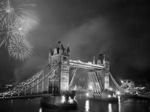 Tower Bridge and Fireworks, London, England by Steve Vidler