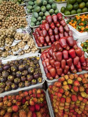 Vietnam, Ho Chi Minh City, Ben Thanh Market, Fruit Display by Steve Vidler