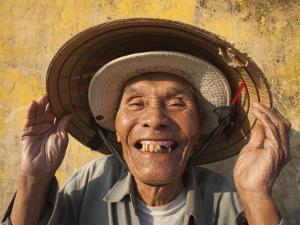 Vietnam, Hoi An, Portrait of Elderly Fisherman by Steve Vidler