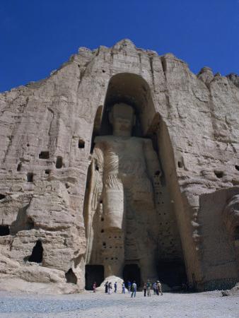 Worlds Largest Standing Buddha, Bamiyan, Afghanistan by Steve Vidler