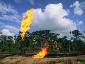 Flames from Oil Drilling Pipes by Steve Winter