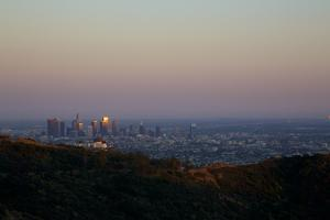 Griffith Park Observatory and Downtown Los Angeles by Steve Winter