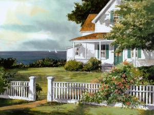 White Fence in Cape Cod by Steve Zazenski