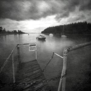 Small Jetty on Lake by Steven Allsopp