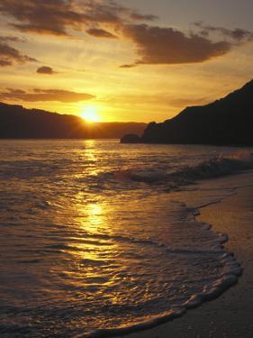 Sunset Over Beach, Angel Island, CA by Steven Baratz