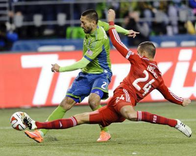2014 MLS Playoffs: Nov 10, FC Dallas vs Seattle Sounders - Clint Dempsey, Matt Hedges by Steven Bisig