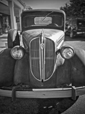 A Plymouth Roadster on a Lot Is an Automobile Relic from the Past by Steven Boone