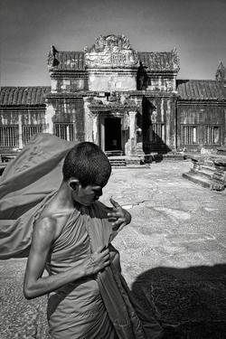 A Young Monk at Angkor Wat, Cambodia by Steven Boone