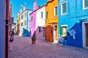 Brightly Colored Houses in Burano, Italy by Steven Boone