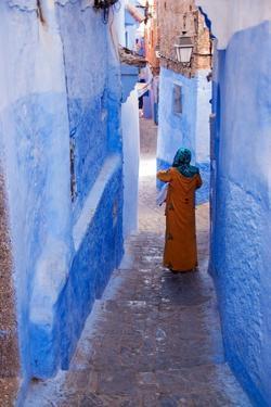 Figure in Narrow Passageway in Morocco by Steven Boone