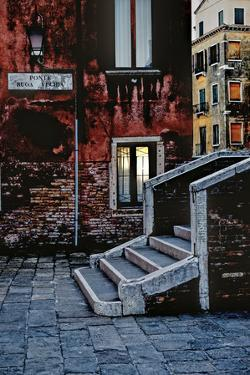 Stone Steps, Twilight Glow, Venice, Italy by Steven Boone