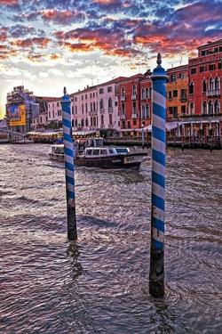 The Grand Canal, Venice, at Sunset by Steven Boone