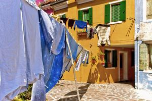 Wash Day in Burano by Steven Boone